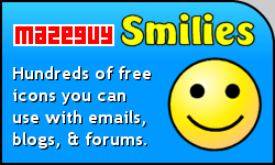 Mazeguy Smilies: Hundreds of emoticons you can download and use in email, blogs, and message boards!